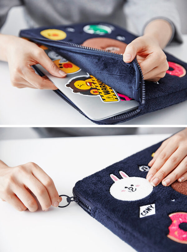 Cartoon Pattern Plush Macbook 12 Air 11 13 Pro 13 15 Touch Bag Cover MB1207_6