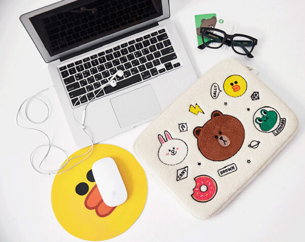 Cartoon Pattern Plush Macbook 12 Air 11 13 Pro 13 15 Touch Bag Cover MB1207_7