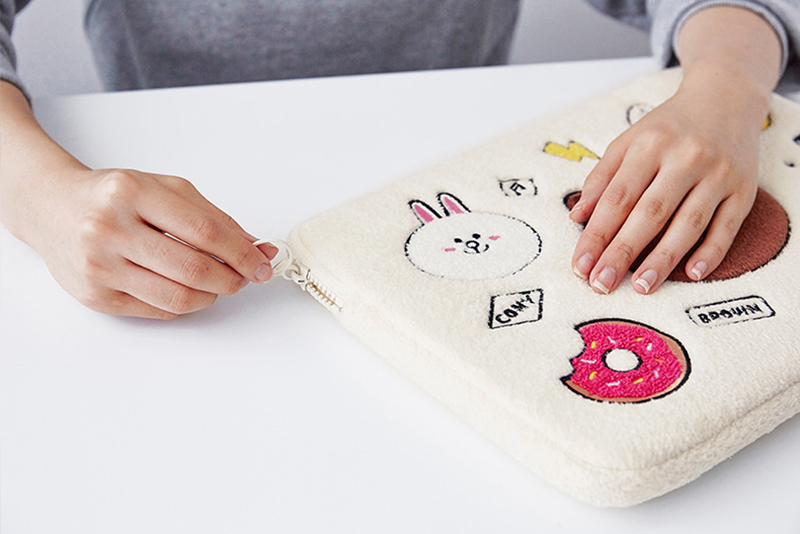 Cartoon Pattern Plush Macbook 12 Air 11 13 Pro 13 15 Touch Bag Cover MB1207_8