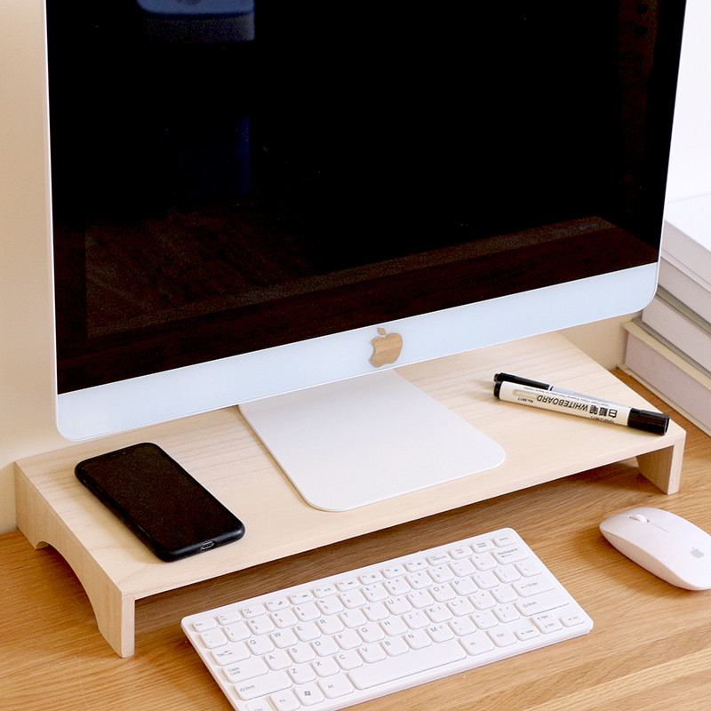 Notebook Increase Height Wood Stand Office Desk Storage Box MDO02_5