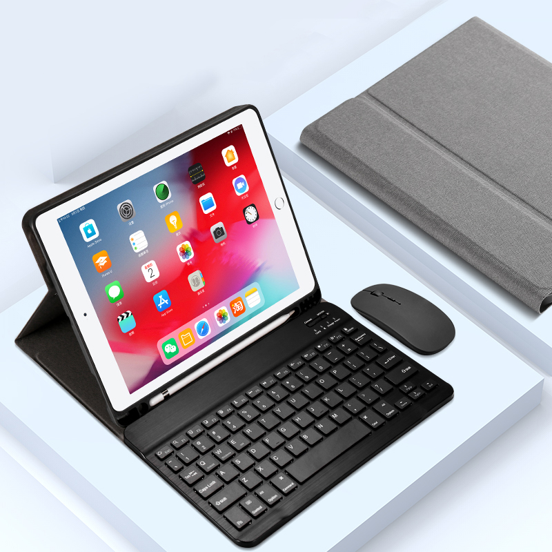 Protective Leather Keyboard With Case Cover For iPad Air 2 IPCK07_3