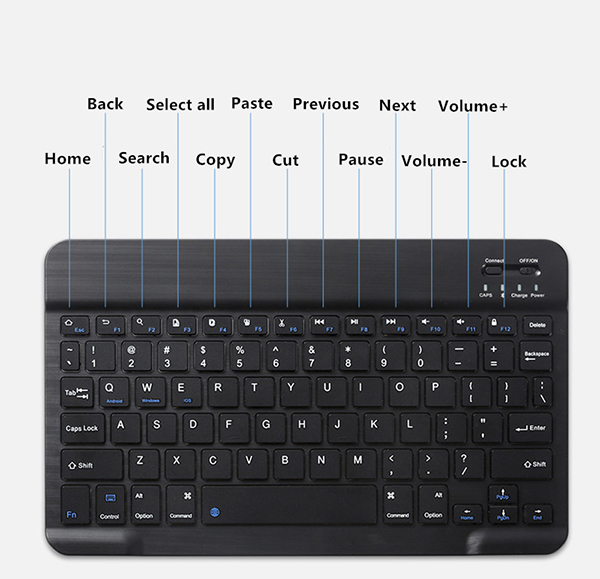 Protective Leather Keyboard With Case Cover For iPad Air 2 IPCK07_7
