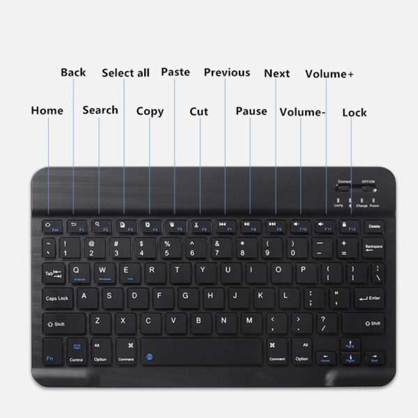 Protective Leather Keyboard With Cover For iPad Air Pro Mini New iPad IPCK07_7