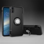Anti Drop iPhone X Case Cover With Round Magnetic Buckle IPS101
