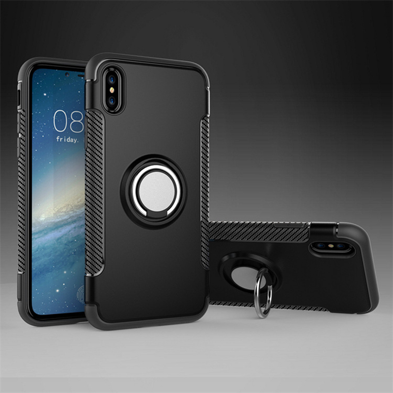 Anti Drop iPhone X 8 7 6 Plus Samsung Note 8 Case With Round Magnetic Buckle IPS101