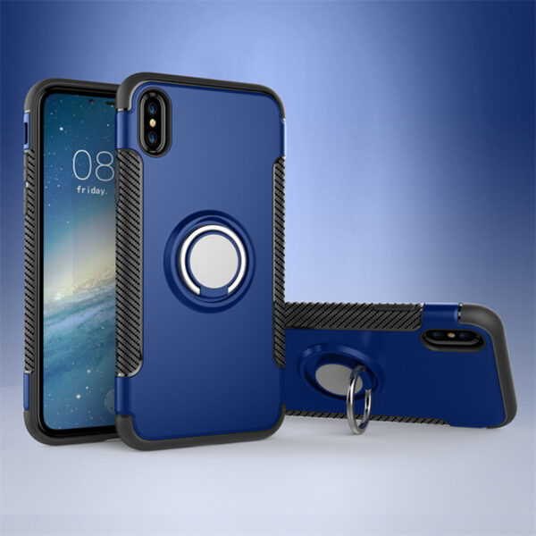 Anti Drop iPhone X Case Cover With Round Magnetic Buckle IPS101_2