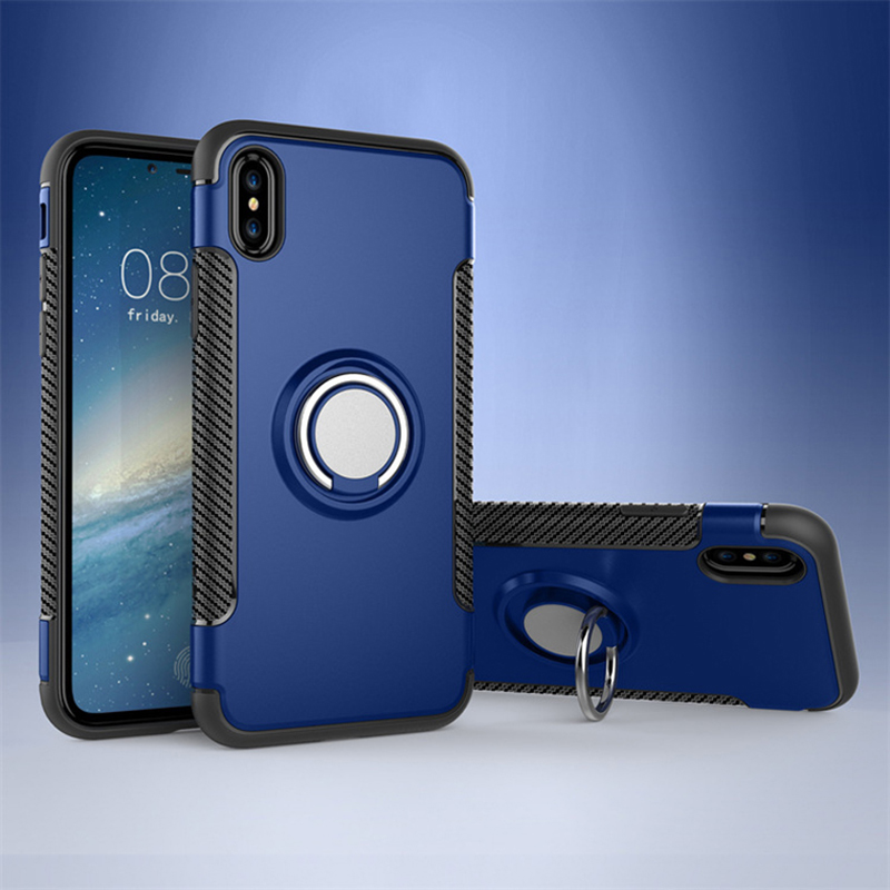 Anti Drop iPhone X 8 7 6 Plus Samsung Note 8 Case With Round Magnetic Buckle IPS101_2