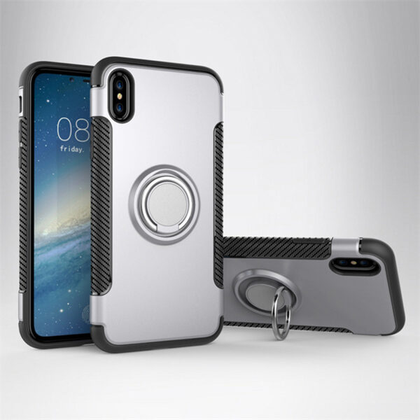 Anti Drop iPhone X Case Cover With Round Magnetic Buckle IPS101_3