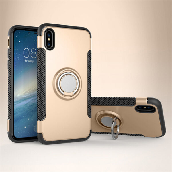 Anti Drop iPhone X Case Cover With Round Magnetic Buckle IPS101_4