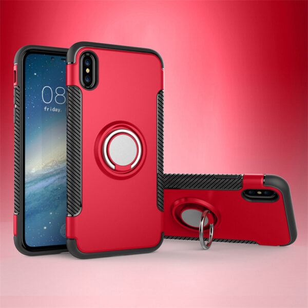 Anti Drop iPhone X Case Cover With Round Magnetic Buckle IPS101_5