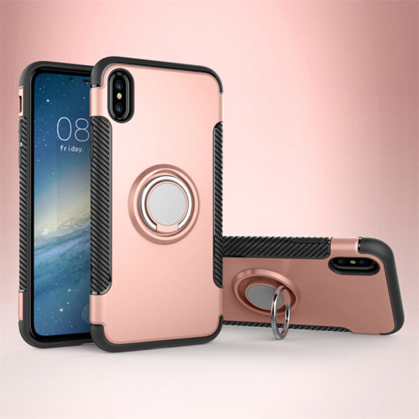 Anti Drop iPhone X Case Cover With Round Magnetic Buckle IPS101_6
