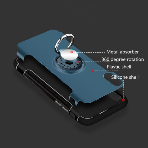 Anti Drop iPhone X Case Cover With Round Magnetic Buckle IPS101_7