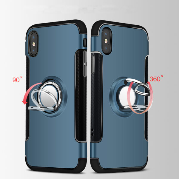 Anti Drop iPhone X Case Cover With Round Magnetic Buckle IPS101_8
