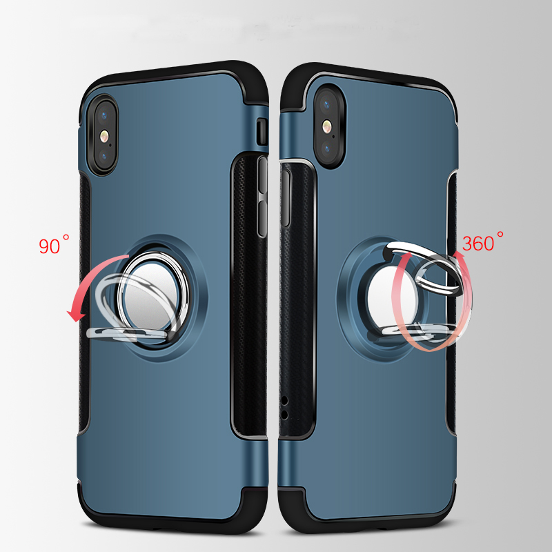 Anti Drop iPhone X 8 7 6 Plus Samsung Note 8 Case With Round Magnetic Buckle IPS101_8