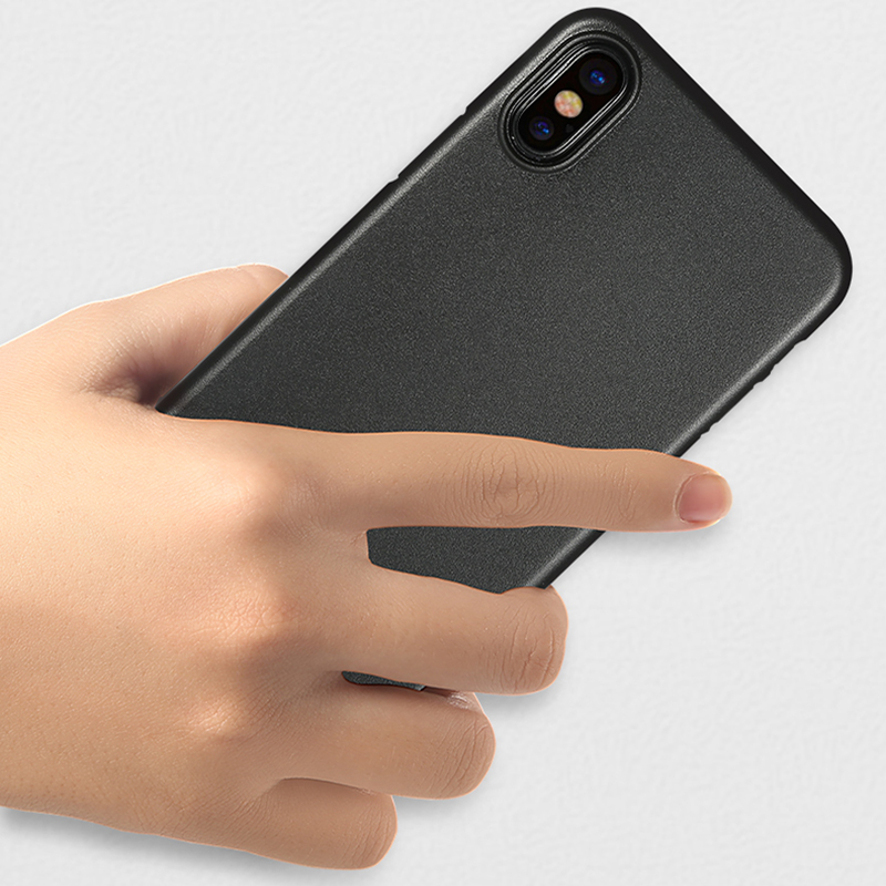 Perfect Black Thin iPhone X XS Protective Case Cover IPS102_5
