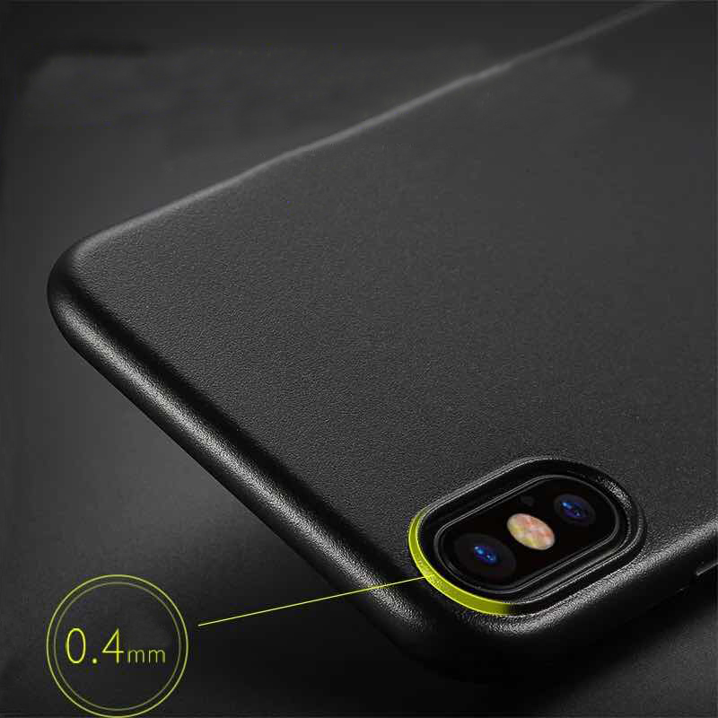 Perfect Black Thin iPhone X XS Protective Case Cover IPS102_6