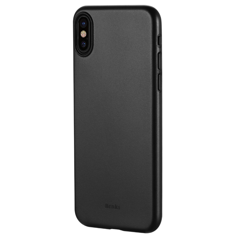 Perfect Black Thin iPhone X XS Protective Case Cover IPS102_7