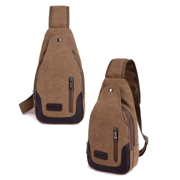 2018 New Chest Canvas Messenger Bag One Shoulder Bag MFB12