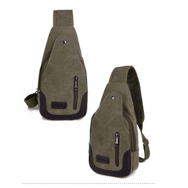 2018 New Chest Canvas Messenger Bag One Shoulder Bag MFB12_2