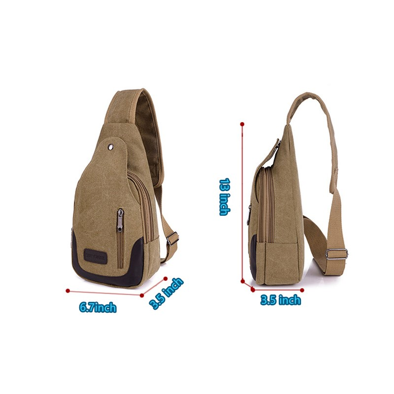 New Chest Canvas Messenger Bag One Shoulder Bag MFB12_9