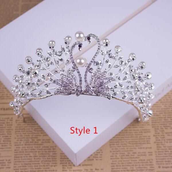 Bride Princess Crown For Wedding Birthday Accessories NLC11