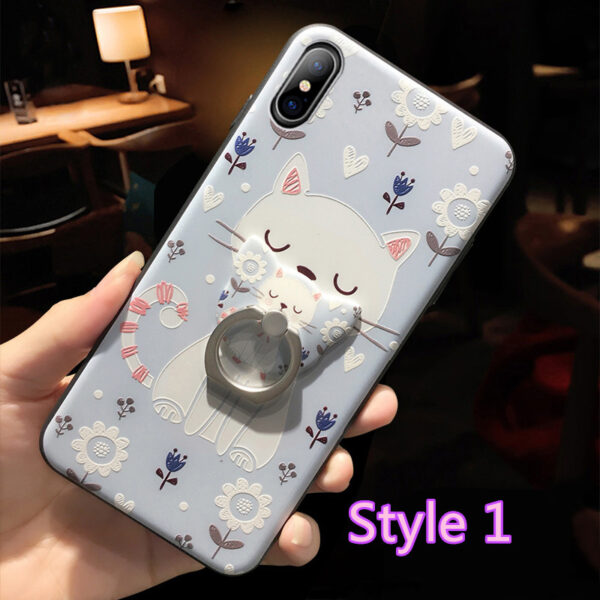Cartoon Creative Relief Silicone Case For iPhone X IPS108