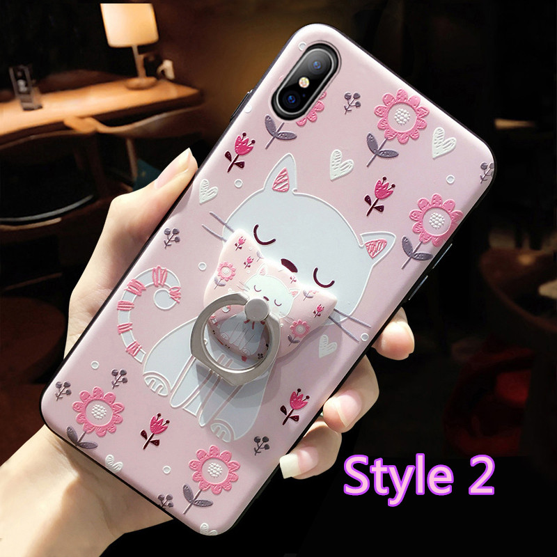 Cartoon Creative Relief Silicone Case For iPhone X IPS108_2