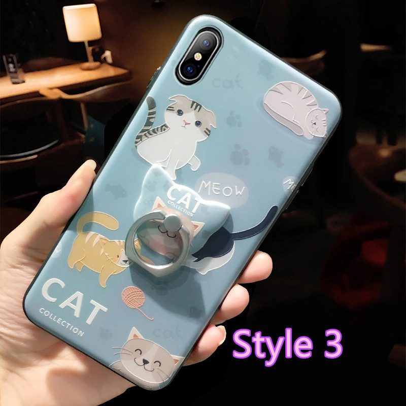 Cartoon Creative Relief Silicone Case For iPhone X IPS108_3