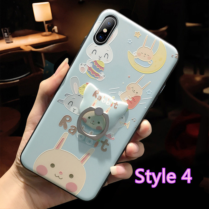 Cartoon Creative Relief Silicone Case For iPhone X IPS108_4