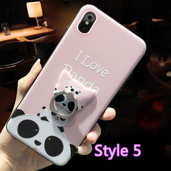 Cartoon Creative Relief Silicone Case For iPhone X IPS108_5