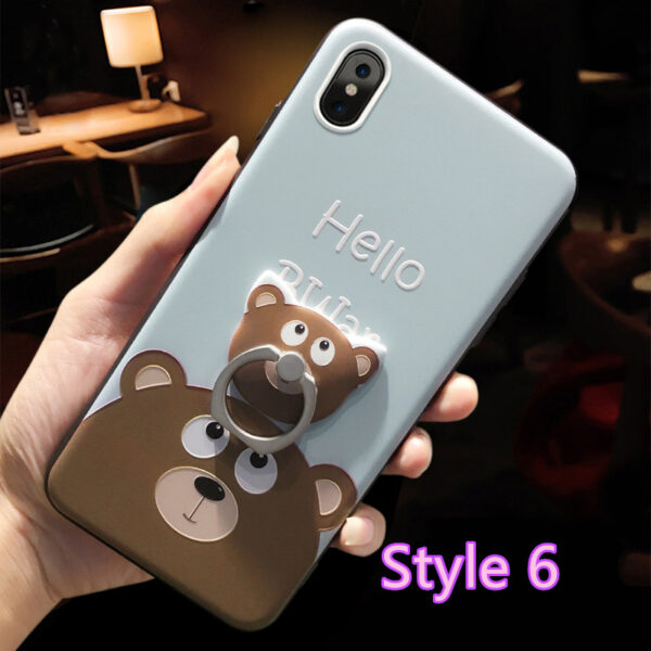 Cartoon Creative Relief Silicone Case For iPhone X IPS108_6