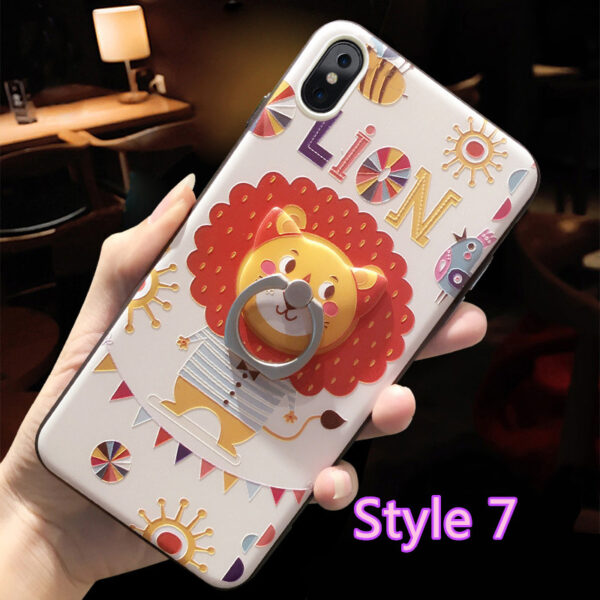Cartoon Creative Relief Silicone Case For iPhone X IPS108_7