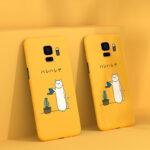 Cat Cartoon Silicone Samsung Note 8 5 4 3 S8 S7 S6 Plus Edge Case Cover SGN805