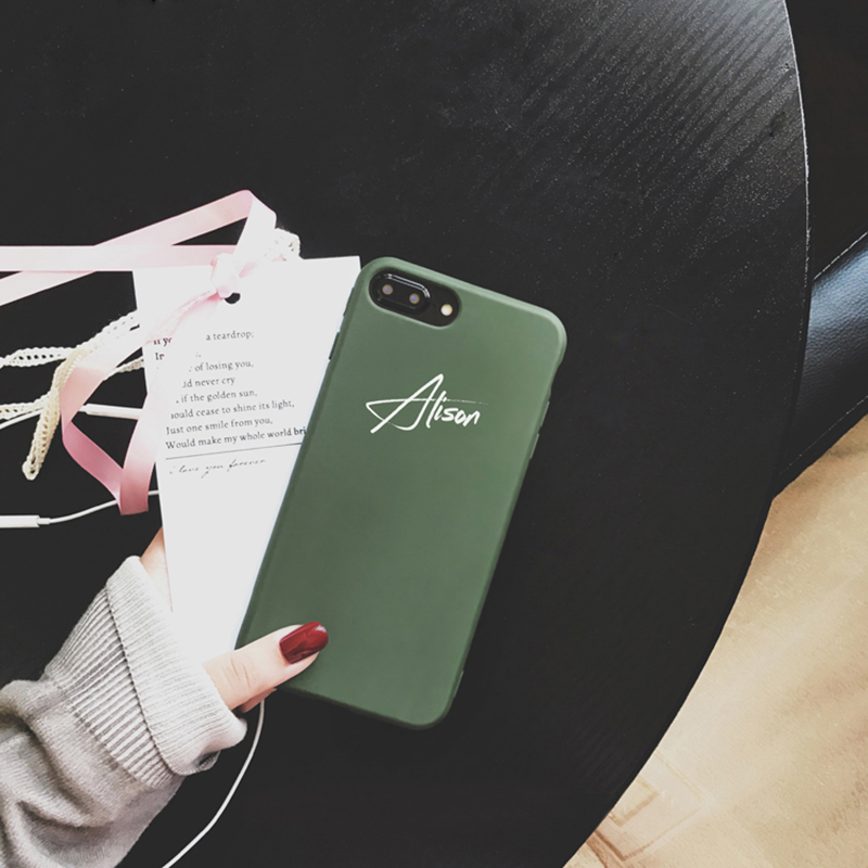hot sale online fec0f e8f60 Customize Name Letter Case Cover For iPhone X 8 7 6S Plus IPS105