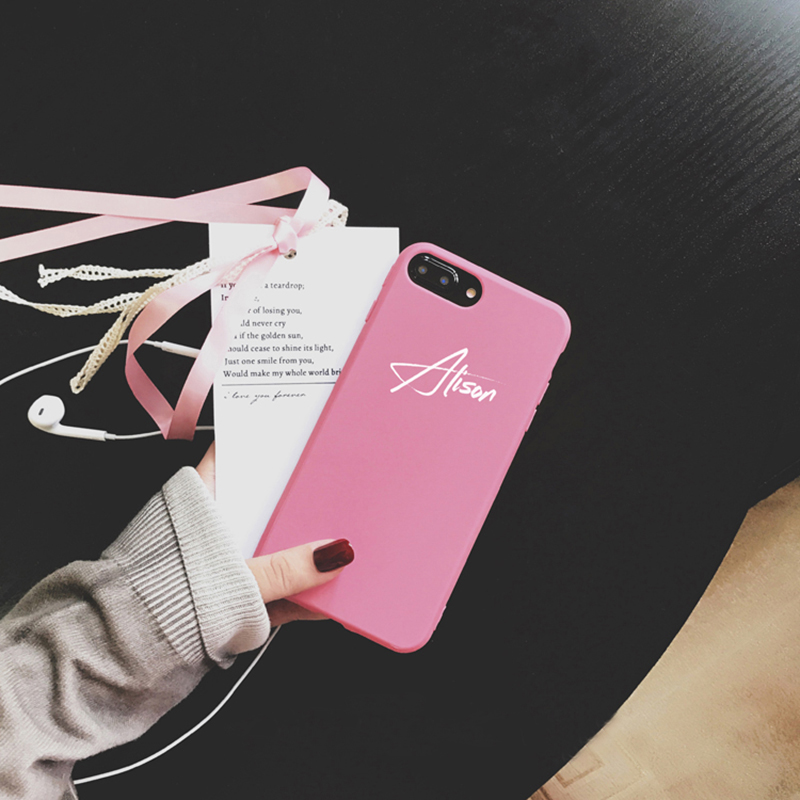 Customize Name Letter Case Cover For iPhone X 8 7 6S Plus IPS105_2