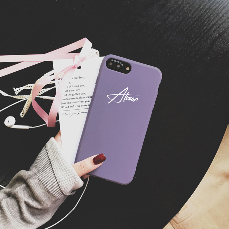 Customize Name Letter Case Cover For iPhone X 8 7 6S Plus IPS105_3