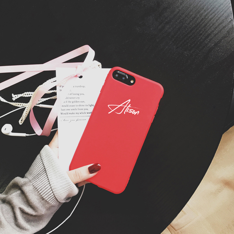 Customize Name Letter Case Cover For iPhone X 8 7 6S Plus IPS105_4