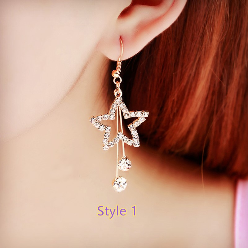 Fashion Crystal Long Earrings Tel Female Accessories Nlc14