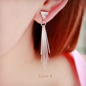 Fashion Crystal Long Earrings Tassel Earrings Female Accessories NLC14_4