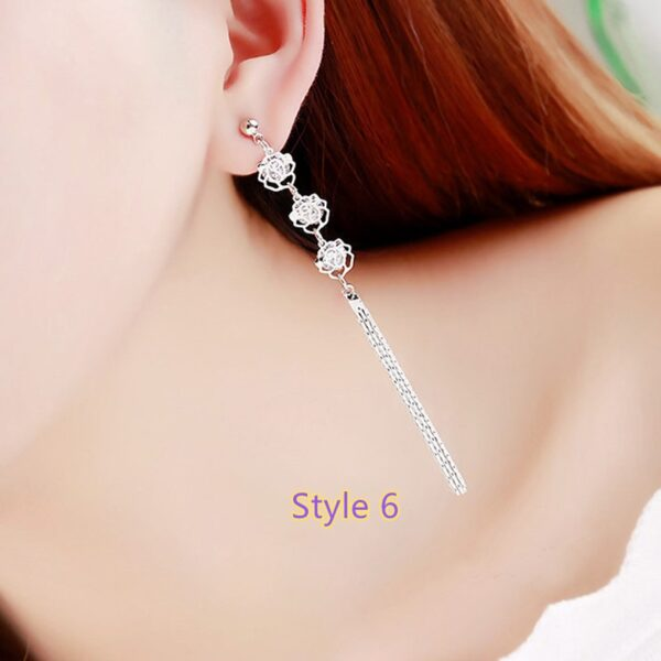 Fashion Crystal Long Earrings Tassel Earrings Female Accessories NLC14_6