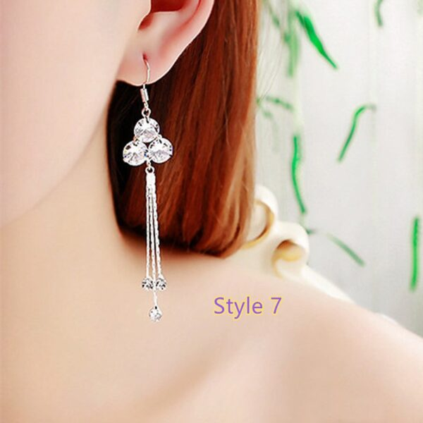 Fashion Crystal Long Earrings Tassel Earrings Female Accessories NLC14_7