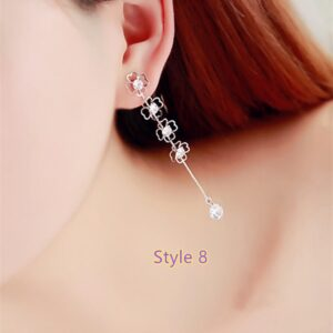 Fashion Crystal Long Earrings Tassel Earrings Female Accessories NLC14_8