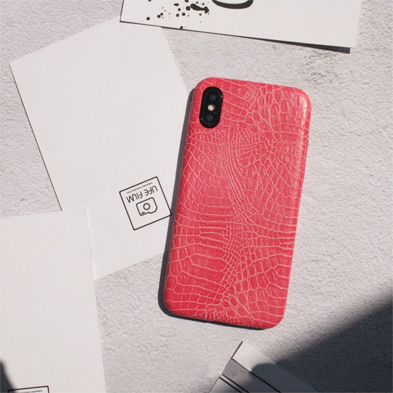 Leather Protective iPhone X 8 7 6S 6 Plus Case Cover IPS107_2