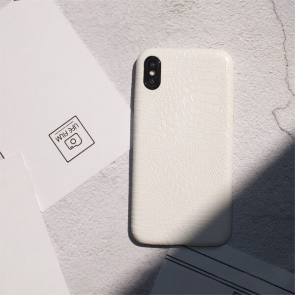 Leather Protective iPhone X 8 7 6S 6 Plus Case Cover IPS107_3