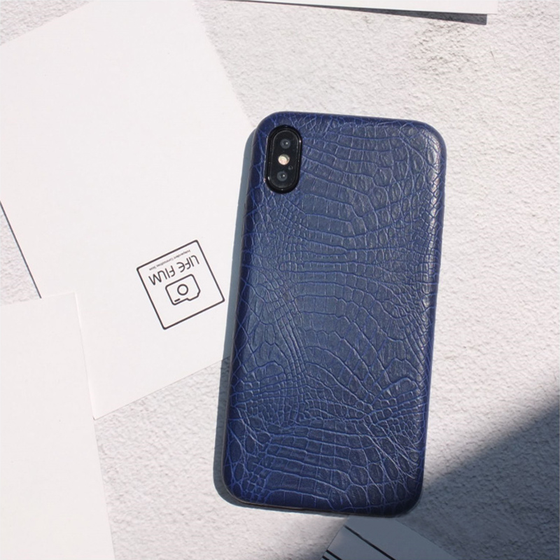 Leather Protective iPhone X 8 7 6S 6 Plus Case Cover IPS107_4