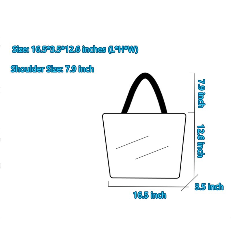 Simple Canvas One Shoulder Tote Bag Handbag With Zipper MFB10_9