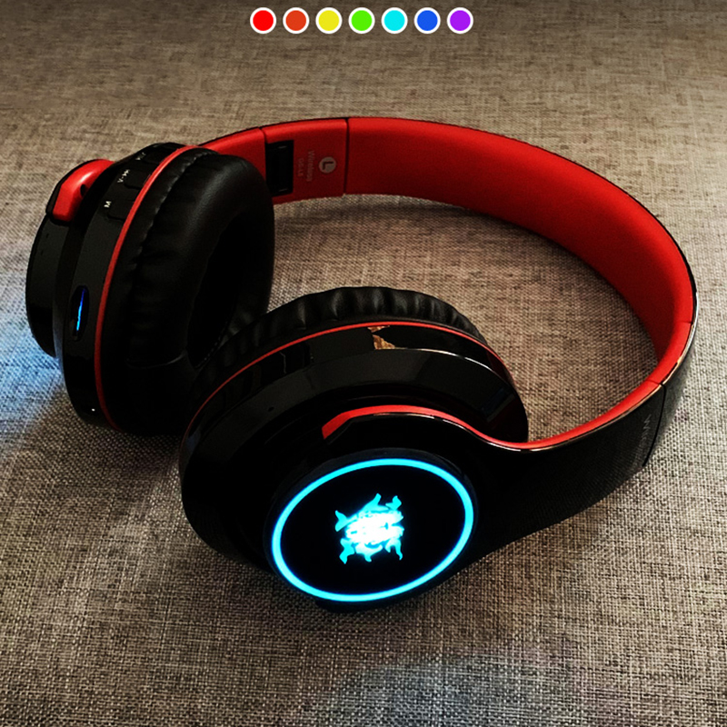 Wireless Bluetooth Gaming Headset With Luminous Logo BTE08_4