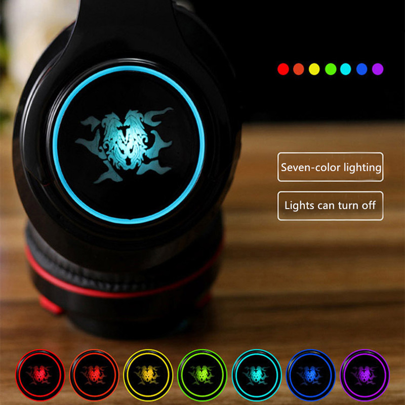 Wireless Bluetooth Gaming Headset With Luminous Logo BTE08_5