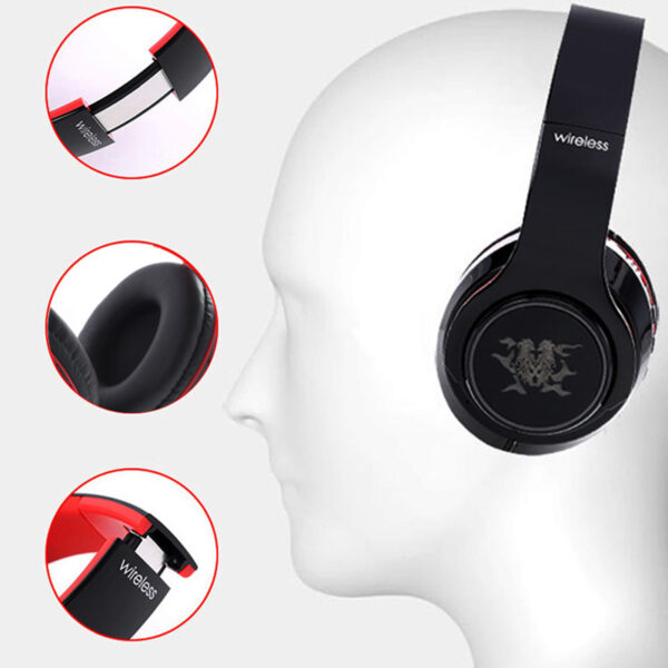 Wireless Bluetooth Gaming Headset With Luminous Logo BTE08_6