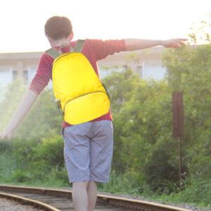 Foldable Children Travel School Shoulder Bag Backpack MFB13_6